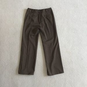 Larry Levine stretch size 6 brown trousers bootcut